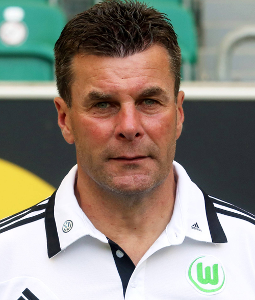 The 52-year old son of father (?) and mother(?), 177 cm tall Dieter Hecking in 2017 photo