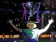 G�nsehaut in Barcelona - So feiern Triple-Sieger