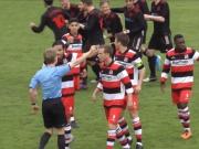 Dr�ber und doch drin: Phantomtor in der Oberliga