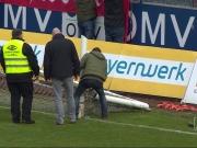 Skandal in Burghausen: Pfosten durchs�gt