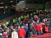 Die Evakuierung des Old Trafford