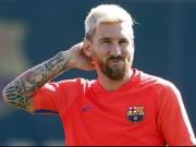 Besonderer Trainingskick: Messi spielt Blindenfußball