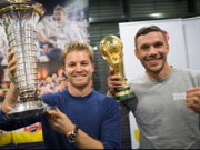 Weltmeister unter sich - Rosberg trifft Podolski