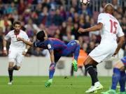 Suarez akrobatisch, Messi macht's doppelt