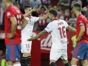 Sevillas leichte Übung mit Scharfschütze Jovetic
