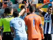 Zwei Tore, drei Rote Karten: Nerven liegen in Udine blank