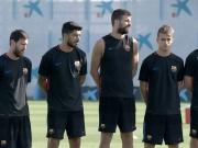 Schweigeminute beim FC Barcelona