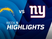 Los Angeles Chargers vs. New York Giants Highlights