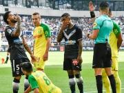 Bordeaux gegen Nantes: Zwei Tore und ein Fahnentritt