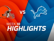 Cleveland Browns vs. Detroit Lions