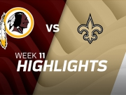 Washington Redskins vs. New Orleans Saints