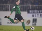 Baumgart an Querlatte - Scherders Volleytreffer reicht Preußen