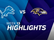 Detroit Lions vs. Baltimore Ravens