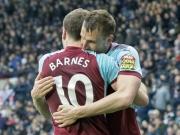 Barnes' toller Seitfallzieher ebnet Burnley den Weg