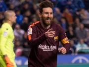 Messis Dreierpack bei Barças Meisterstück