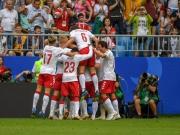 Eriksen-Kracher, Poulsen-Handspiel: Dänemark nur 1:1