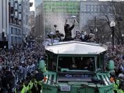 Hunderttausende Fans bei der Patriots-Parade in Boston