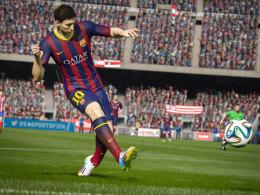 Da fliegt der Rasen! FIFA 15 will auf den neuen Konsolen und auf dem PC grafisch alles rausholen. Ob es auch für die Xbox 360 und PS3 erscheint, ist bisher unklar.