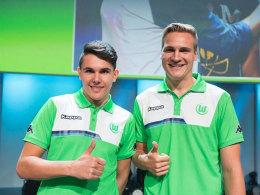 Daniel Fink (li.) ist nicht mehr beim VfL Wolfsburg. Der Verein hat die Trennung des FIFA-Spielers bestätigt.