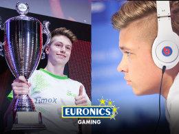 Euronics Gaming holt sich mit Timo 'TimoX' Siep (li.) und Marvin 'M4RV' Hintz zwei aussichtsreiche FIFA-Spieler ins Team.