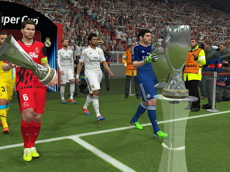 Der UEFA Super Cup gehört zu den offiziellen Lizenzen, die sich Konami für PES 2015 sichern konnte.