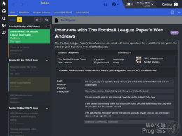 Gespräche mit der Presse gehören auch im Football Manager 2016 zum Alltag.
