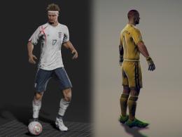 Die ersten Spieler-Modelle sehen schon sehr detailreich aus.