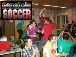 Pure Leidenschaft: Eine Szene von der Sensible Soccer Weltmeisterschaft in Pirmasens.