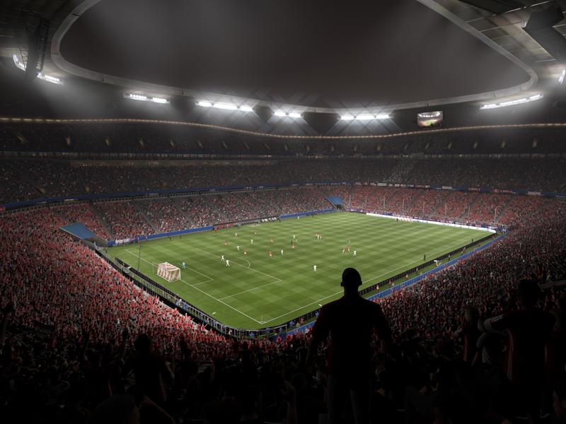 Bald Spielstätte für FIFA 17: Die Münchner Allianz Arena.