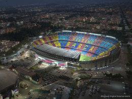 Konami schnappt EA SPORTS das Camp Nou weg.