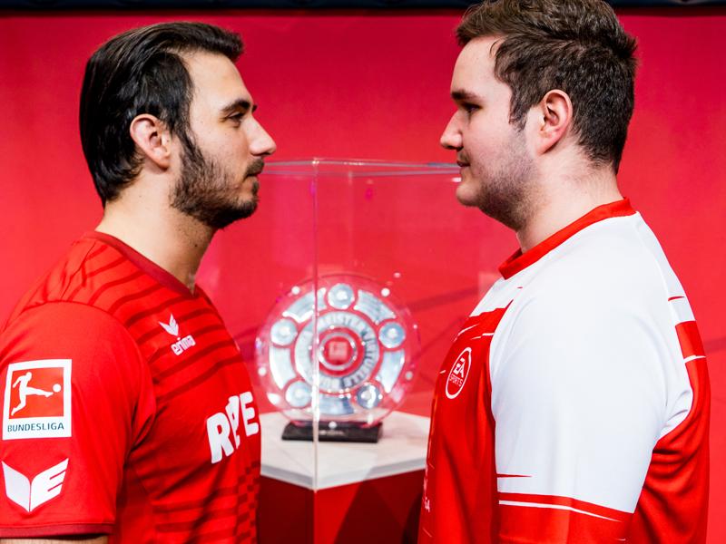 Die beiden Finalisten vor dem Endspiel: Mirza Jahic und Tim Katnawatos (re.).