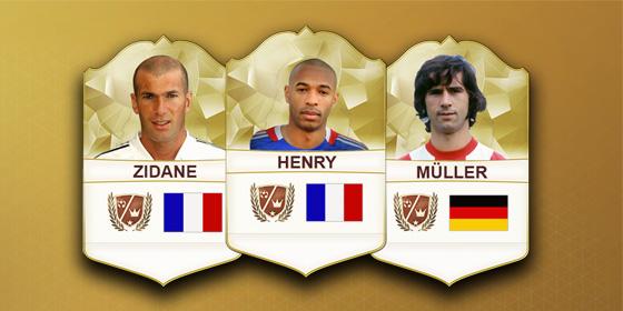 Neue Legenden in FIFA 17: Kommen Zidane, Henry, M�ller und Co.?