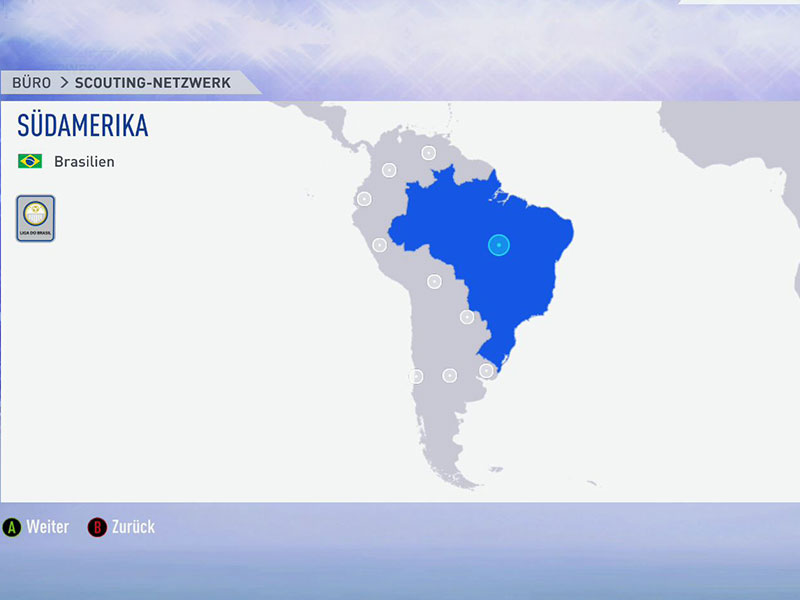 Sudamerika: Südamerika und speziell Brasilien und Argentinien gehören zu den Top-Regionen, um Platinspieler zu entdecken.