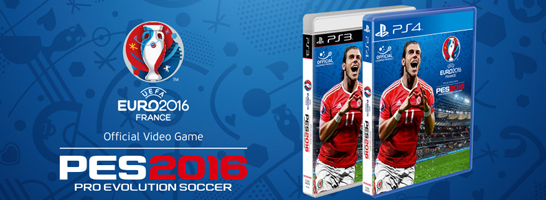 Die Boxversion f�r PES 2016 UEFA Euro 2016 f�r die PS3 und PS4 ist im Handel.