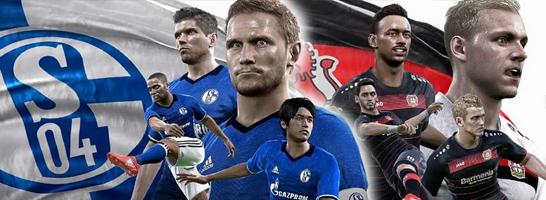 Neben Dortmund werden auch Schalke und Leverkusen in PES 2017 spielbar sein!