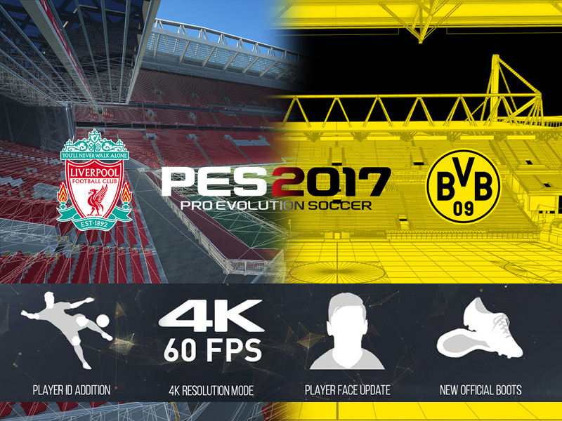 erstes update pes 2017 bald in 4k spielbar startseite kicker. Black Bedroom Furniture Sets. Home Design Ideas