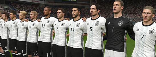 Originaltrikots: Die neuen Trikots der deutschen Mannschaft sind in PES UEFA EURO 2016 bereits enthalten.