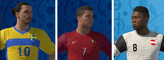 Die zehn besten Spieler in PES UEFA EURO 2016.