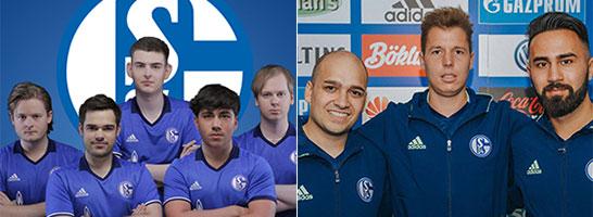 Das komplette LoL-Roster des FC Schalke 04.