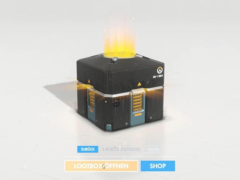 Es funkelt, glitzert und sieht toll aus: Lootboxen wie hier in Overwatch, stehen in der Kritik.