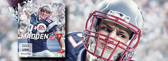 Rob Gronkowski auf dem Cover von MADDEN NFL 17.