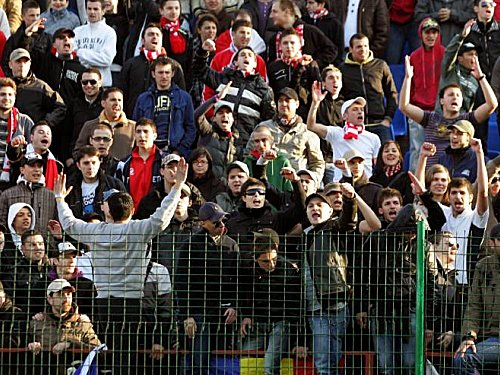 Fans von Dinamo Bukarest