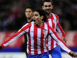 Doppeltorschütze Falcao sorgte für eine gute Ausgangslage für Atletico gegen Valencia.
