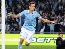 Mit sechs Treffern bester Lazio-Schütze in der Serie A: Miroslav Klose.