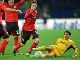 Allein gegen drei: Cristaldo brachte Charkiw gegen Leverkusen in Front.