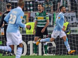 Lazios Antonio Candreva jubelt nach dem Führungstreffer