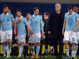 Lazio-Coach Vladimir Petkovic und seine Spieler