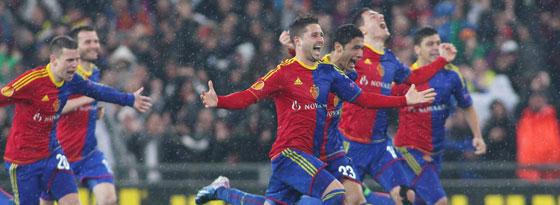 Sturm ins Halbfinale: Der FC Basel trifft in der Europa League auf den FC Chelsea.