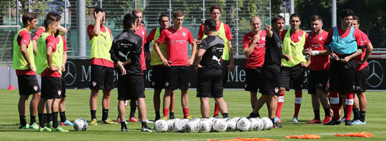 Bruno Labbadia mit seiner Mannschaft