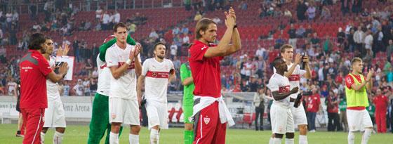 Der VfB Stuttgart um Trainer Thomas Schneider nach dem Aus gegen Rijeka